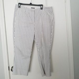 Pin striped capris